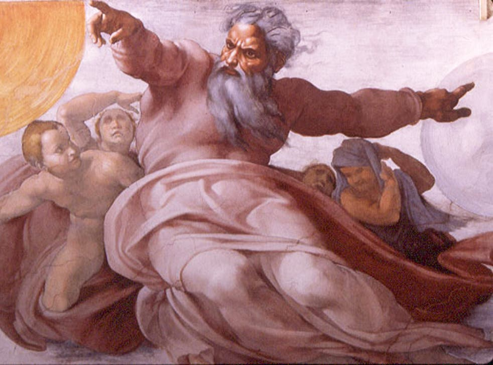 Michelangelo's The Creation of the Sun, Moon and Vegetation, Sistine Chapel ceiling