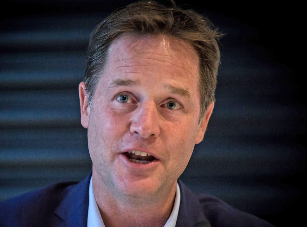 Nick Clegg has accused Theresa May of attempting to alter a report by deleting sentences