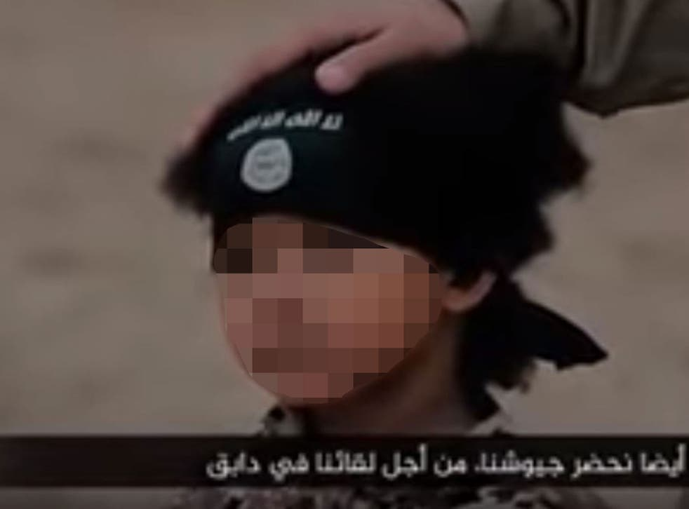The boy is seen in the execution video