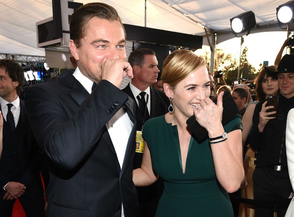 DiCaprio and Winslet grace the Red Carpet of the SAG awards on January 30