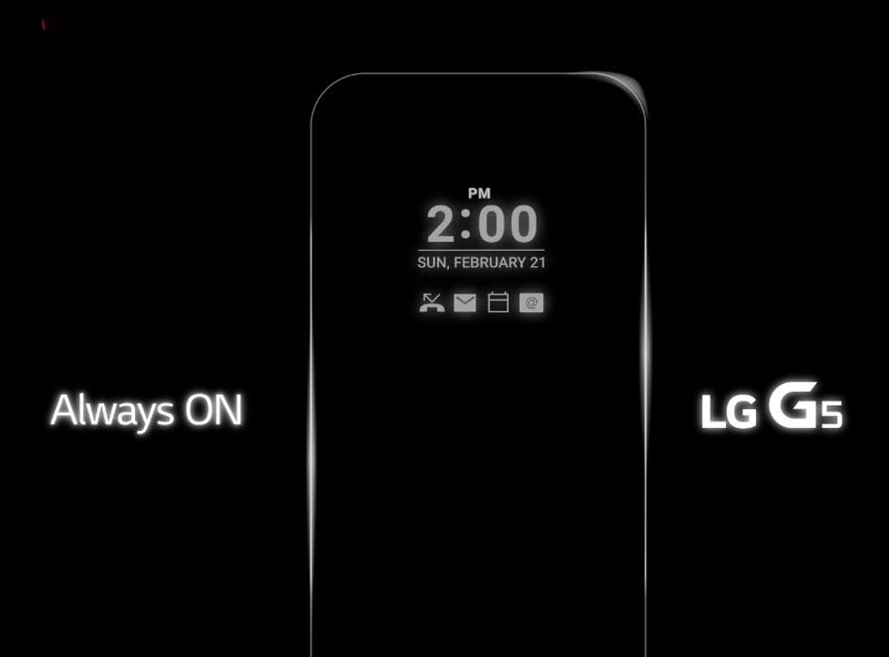 The company's Facebook post strongly hinted that the G5 will have an 'always on' display