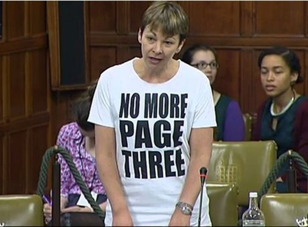 T shall overcome: Green MP Caroline Lucas took her protest into the Commons