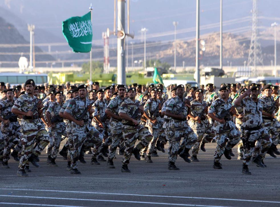 Saudi Arabia's Armed Forces presenting their skills during a military parade in 2013