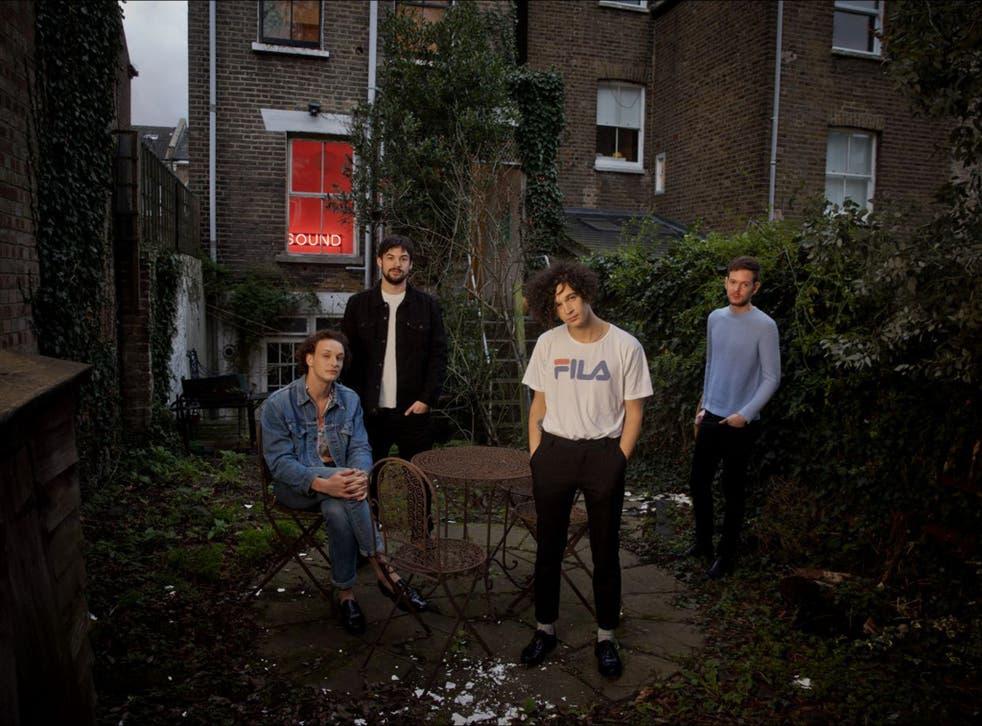 George Daniel, Ross MacDonald, Matty Healy and Adam Hann of The 1975