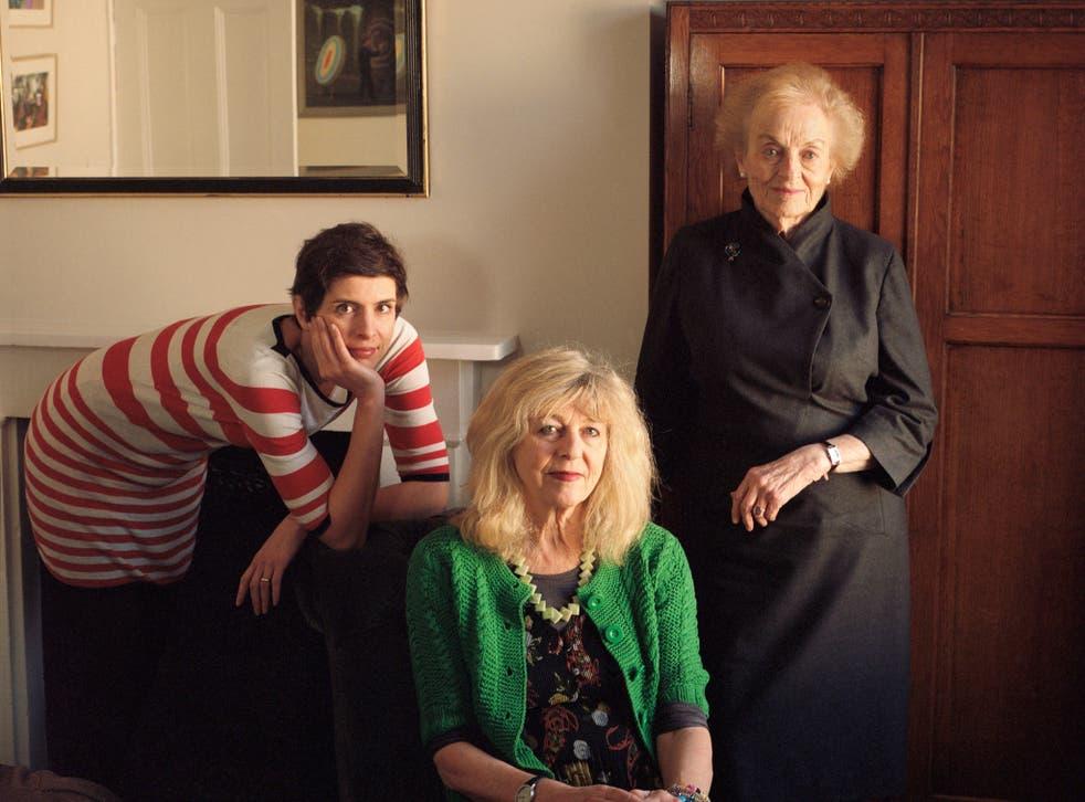 From left to right: film critic Larushka Ivan-Zadeh, screenwriter Deborah Moggach and 'script girl' Angela Allen
