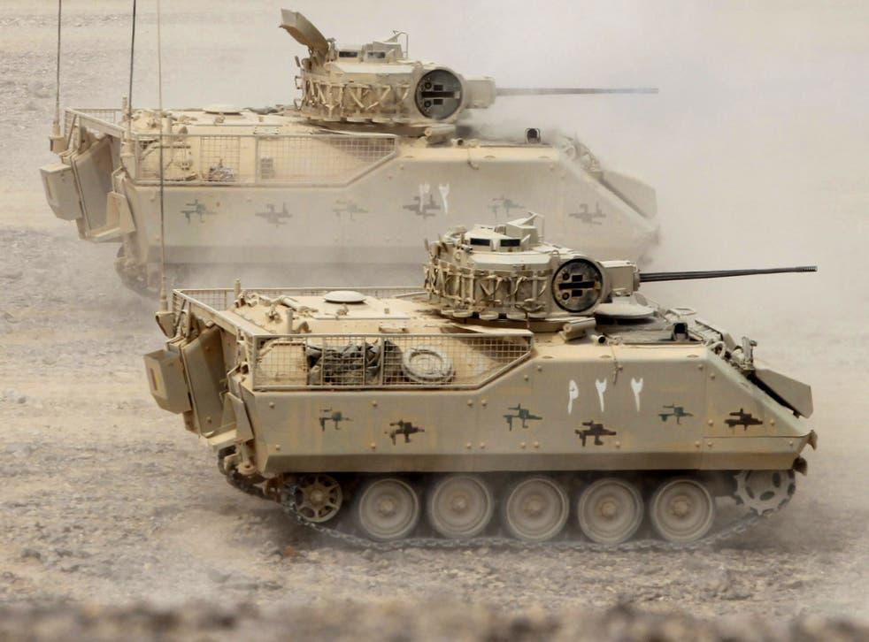 Saudi tanks train in Jordan