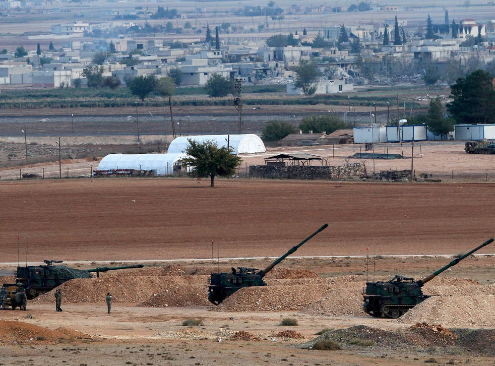Turkey has artillery ranged along its border with Syria