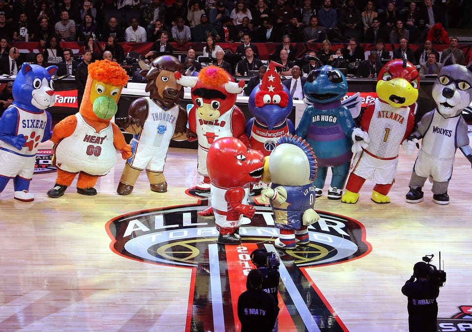 NBA Mascots at the NBA All Star weekend in Toronto
