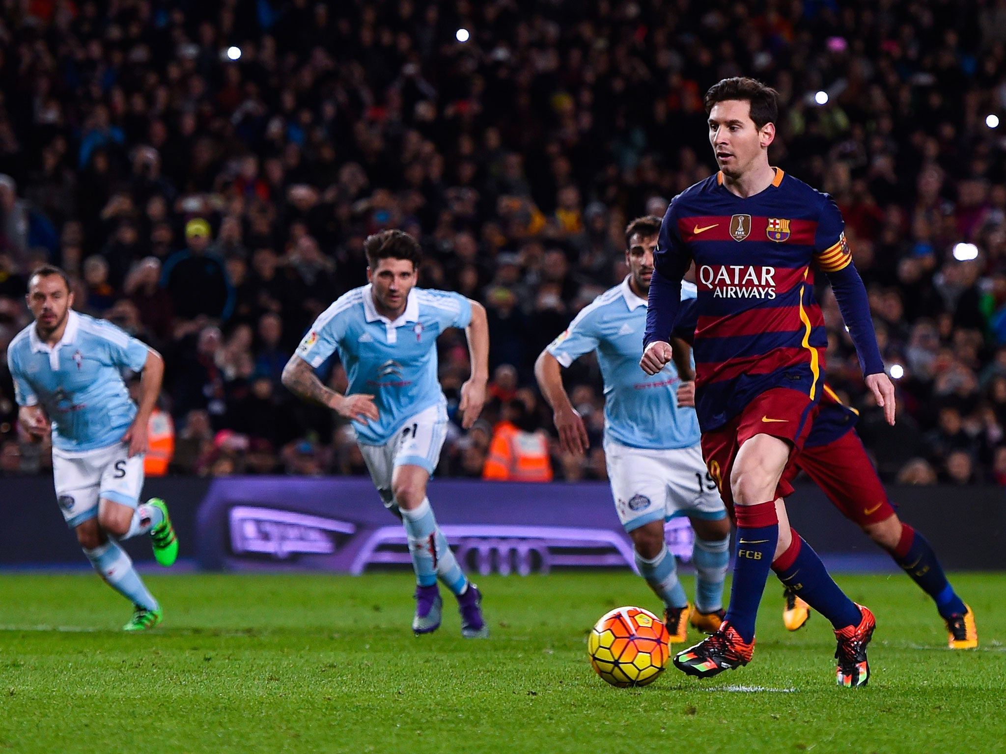 Lionel Messi penalty: Barcelona forward passes to Luis
