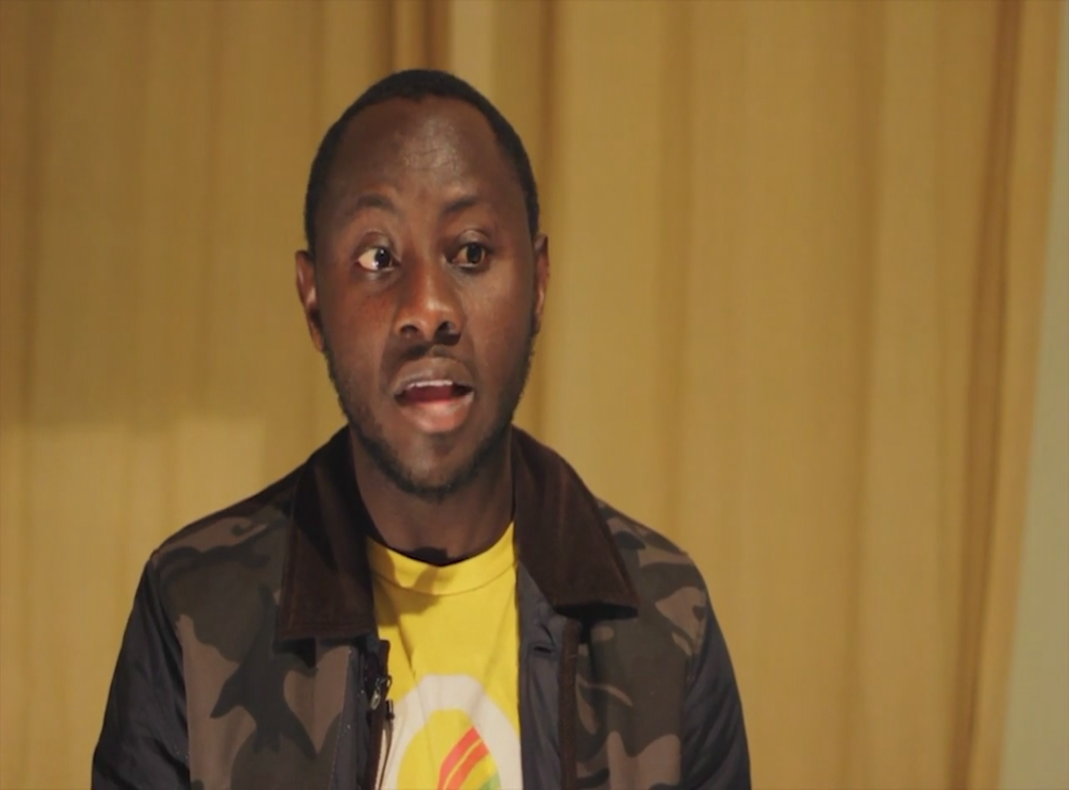The student speaks about his experiences in an online video appeal
