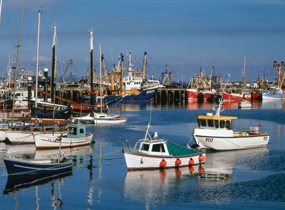 Fishing boats in Newlyn Harbour, West Cornwall