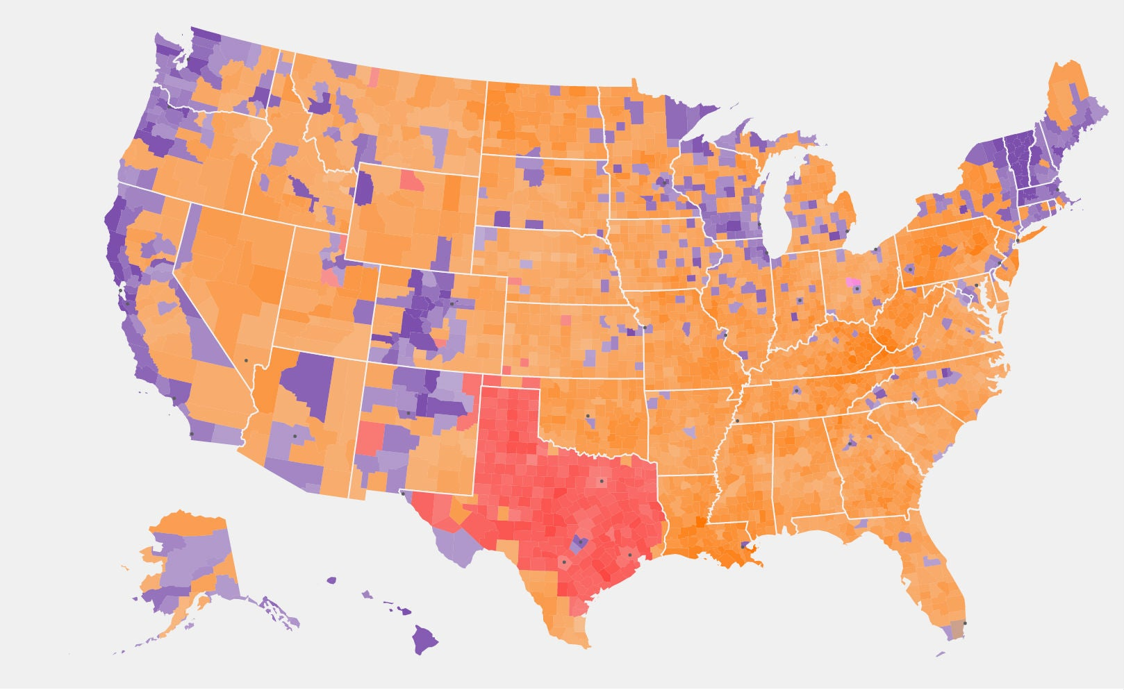 One Map That Shows Which Presidential Candidate Is Winning The - Us election heat map