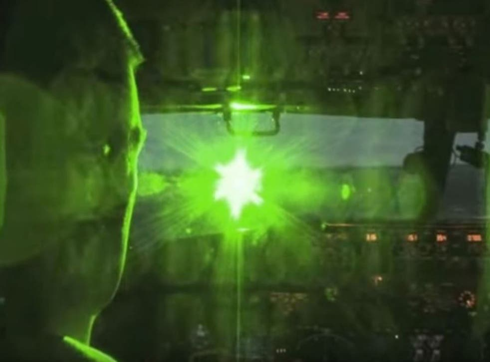The use of laser beams against aeroplanes is a growing problem