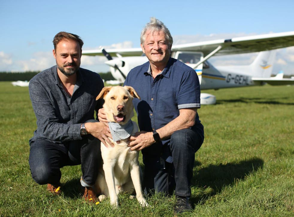 Honey, pictured with presenter Jamie Theakston and expert Mark Vette, is a high-energy lurcher cross. Two years old, she's very loving, despite being a stray