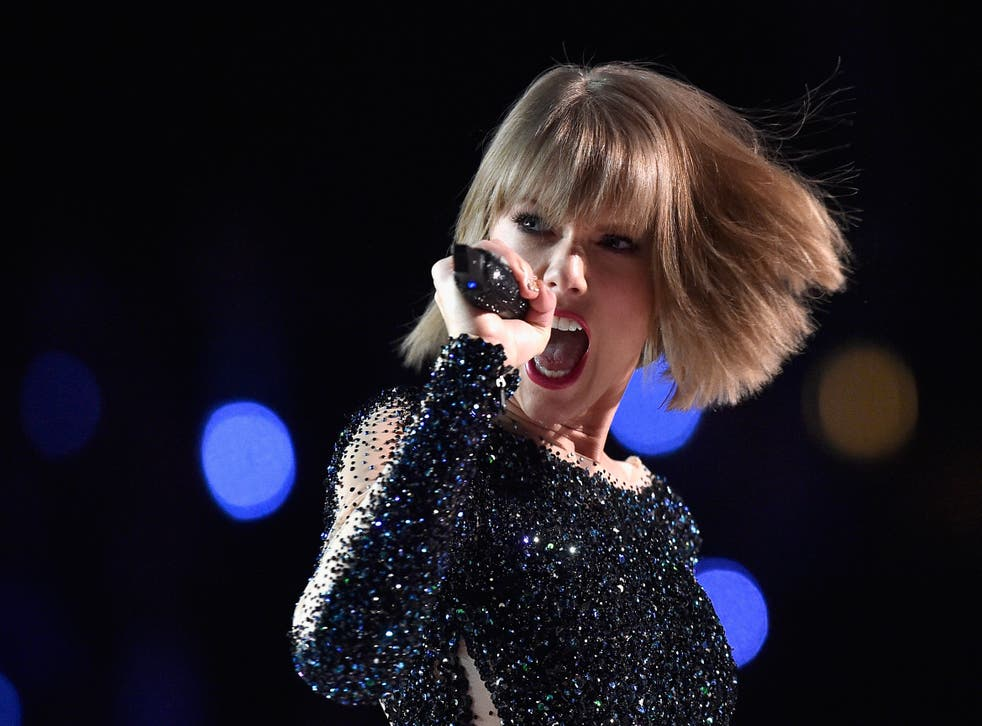 Taylor Swift performing at the Grammys