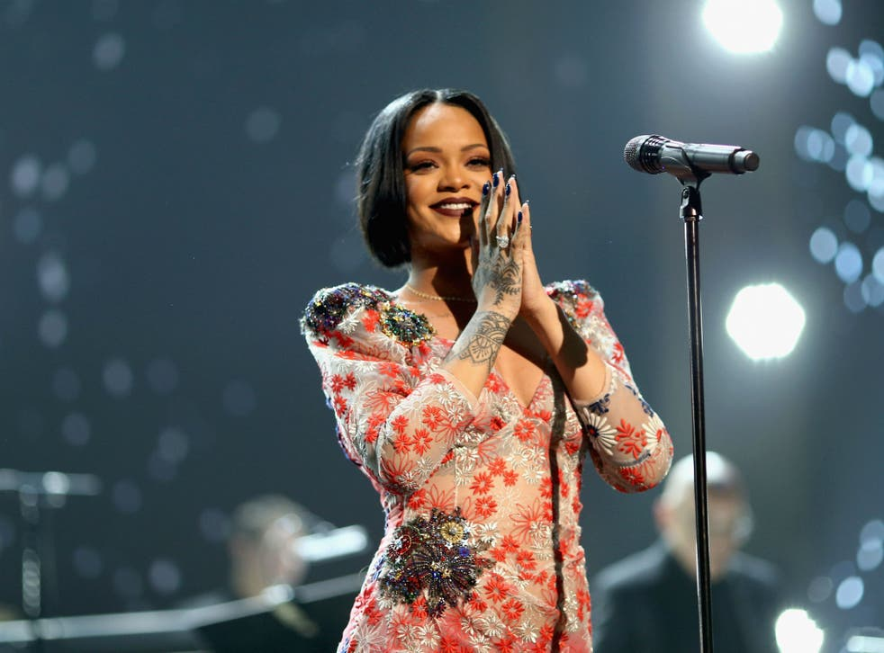 Rihanna took part in rehearsals but pulled out on doctor's orders