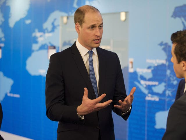 Prince Williams meets staff at the Foreign Office