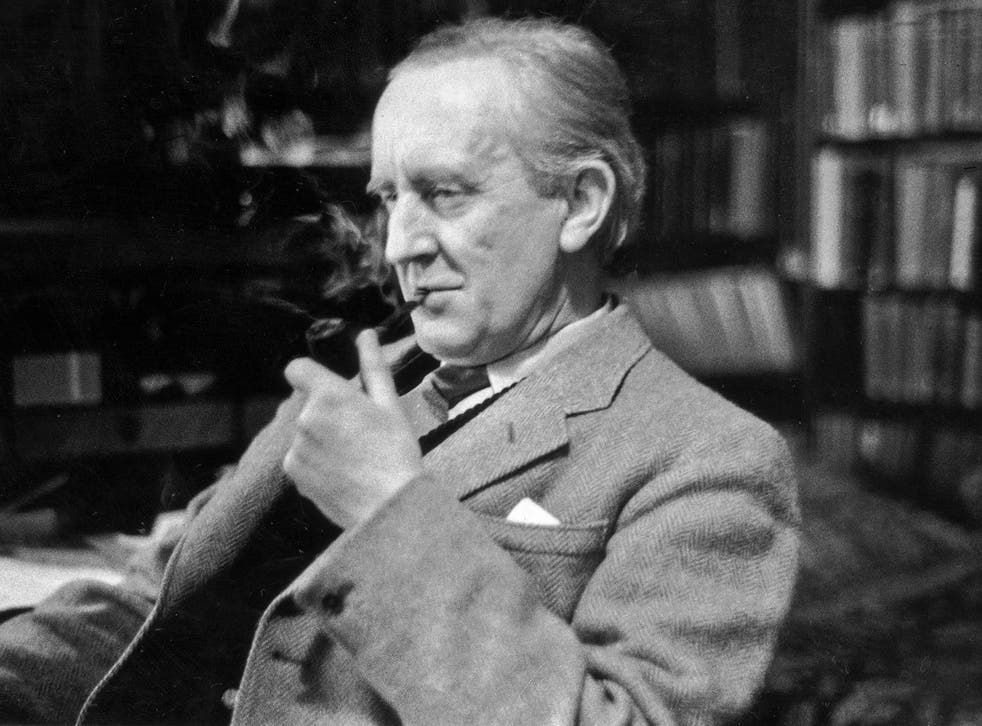 JRR Tolkien, pictured in his study at Merton College, Oxford, in 1955