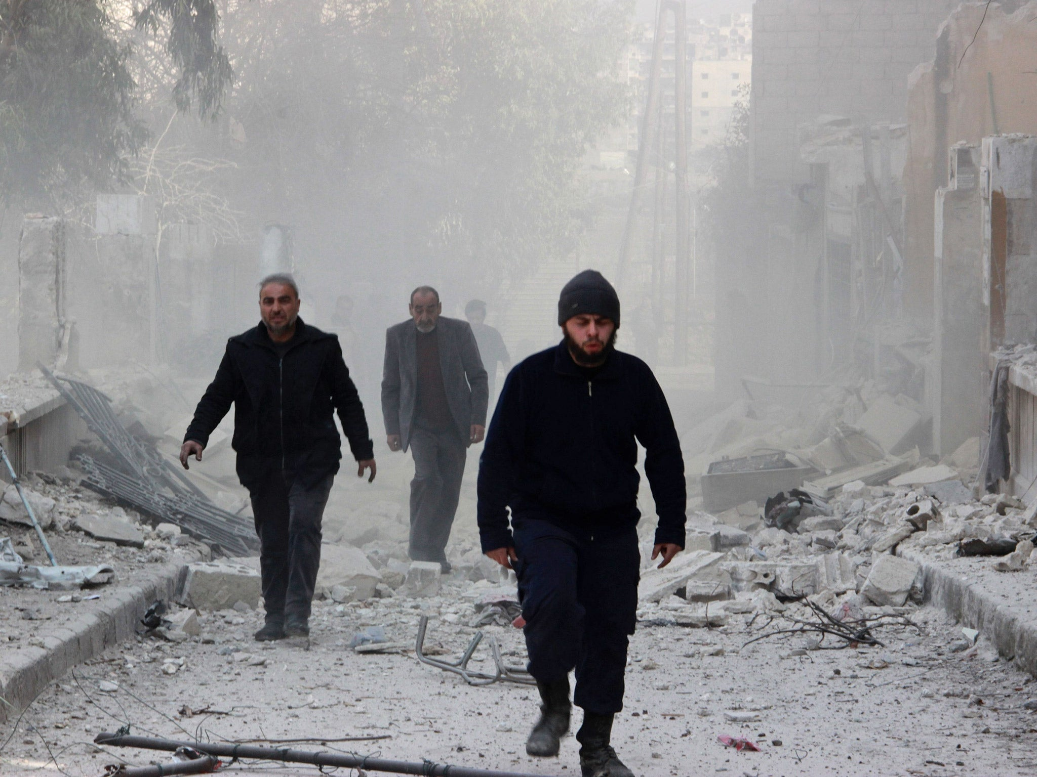 Syria conflict Damascus remains a war zone
