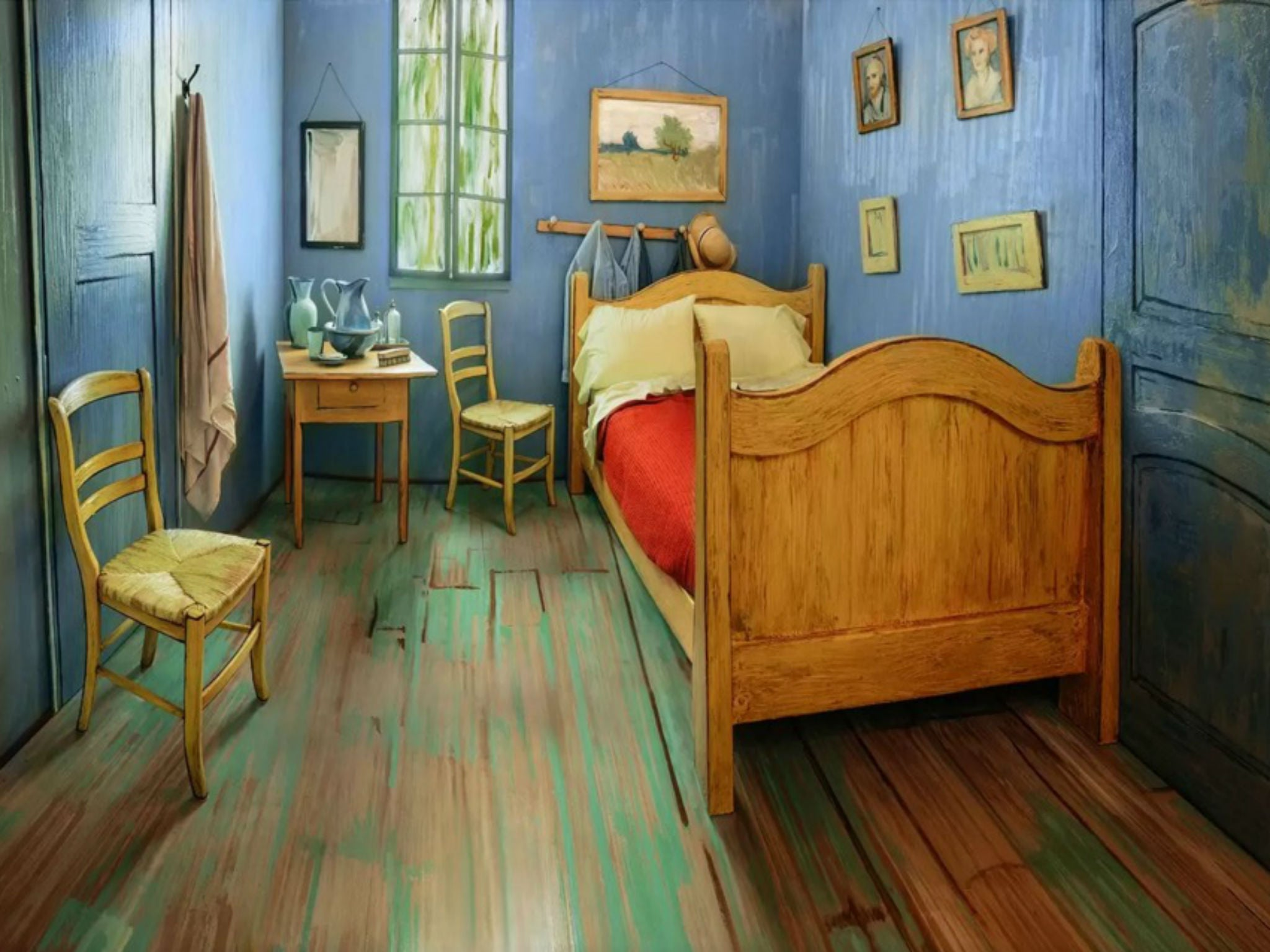 Vincent Van Gogh: Bedroom paintings recreated as real Airbnb room ...