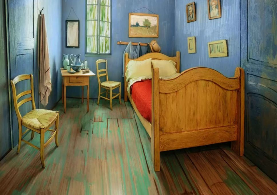 Superb Vincent Van Gogh Bedroom Paintings Recreated As Real Airbnb Download Free Architecture Designs Rallybritishbridgeorg