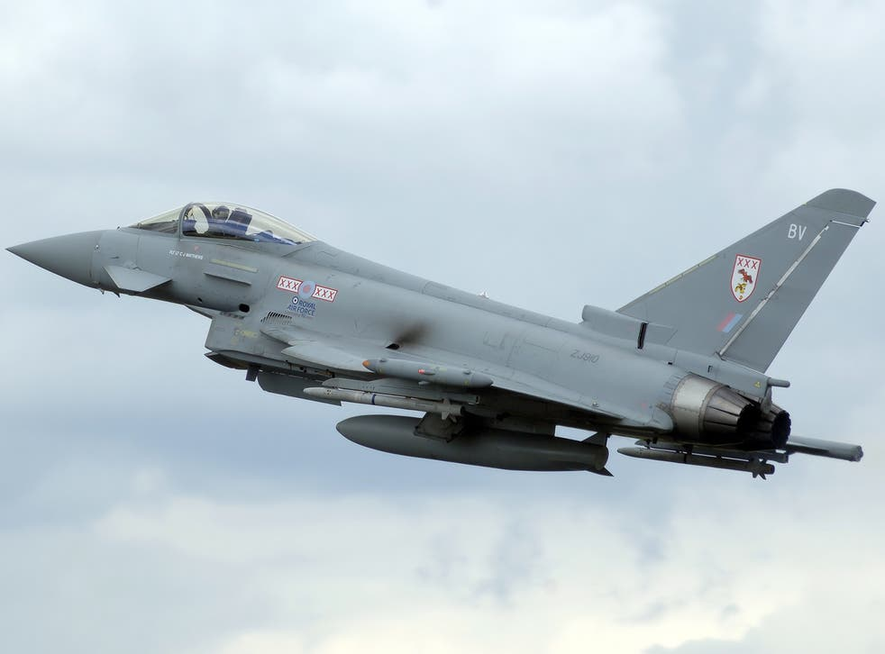 Two RAF Typhoons were scrambled to identify an unresponsive plane