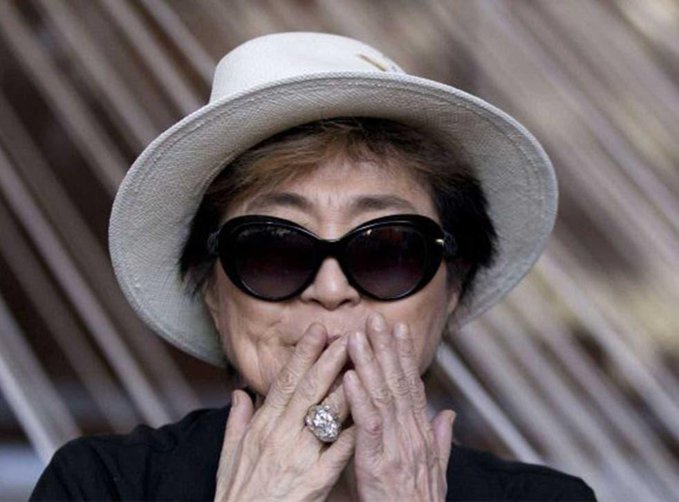 Yoko Ono, artist and musician, 83
