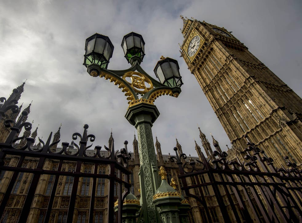 The Houses of Parliament in Westminster