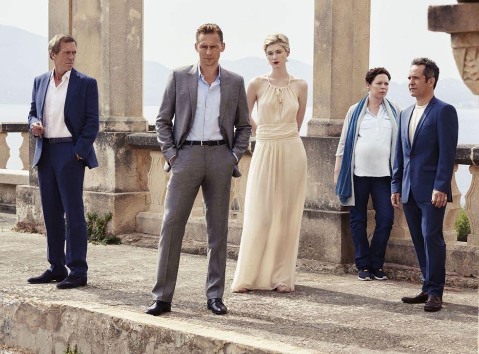From left: Hugh Laurie, Tom Hiddleston, Elizabeth Debicki, Olivia Colman and Tom Hollander