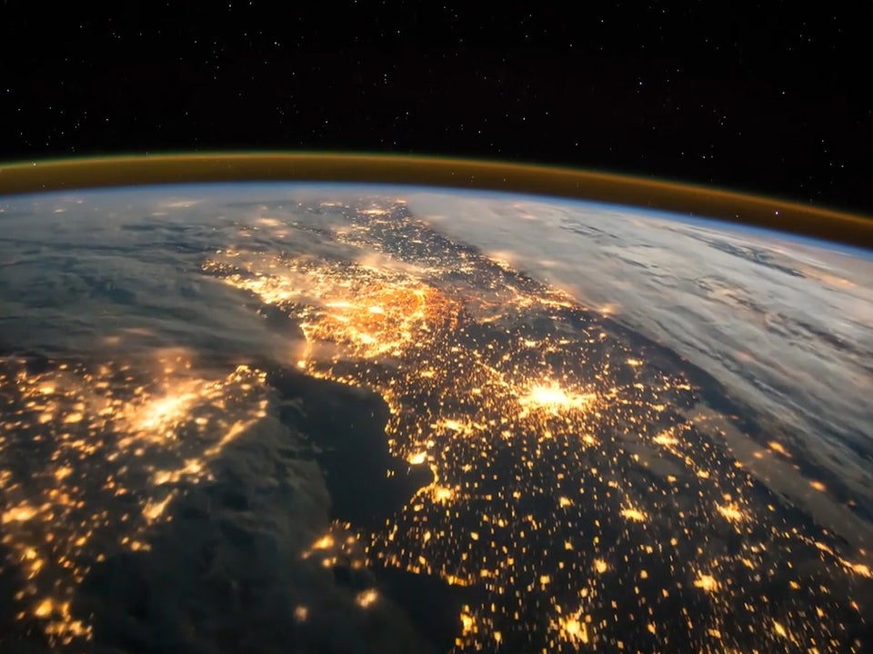 tim peake tweets incredible timelapse video from space that shows the uk and europe lit up at. Black Bedroom Furniture Sets. Home Design Ideas