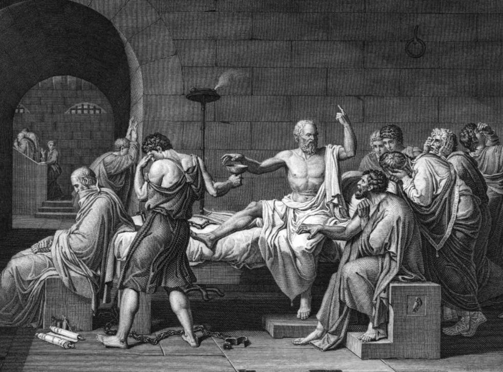 Subversive spirit: Socrates is forced to commit suicide by drinking hemlock