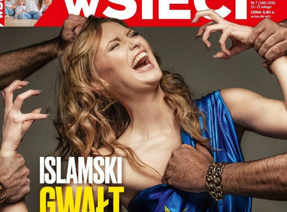 The controversial front cover of wSieci magazine