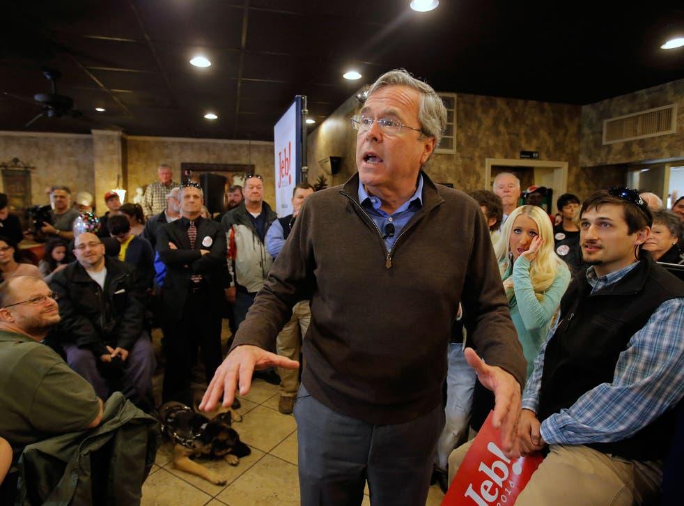 U.S. Republican presidential candidate Jeb Bush