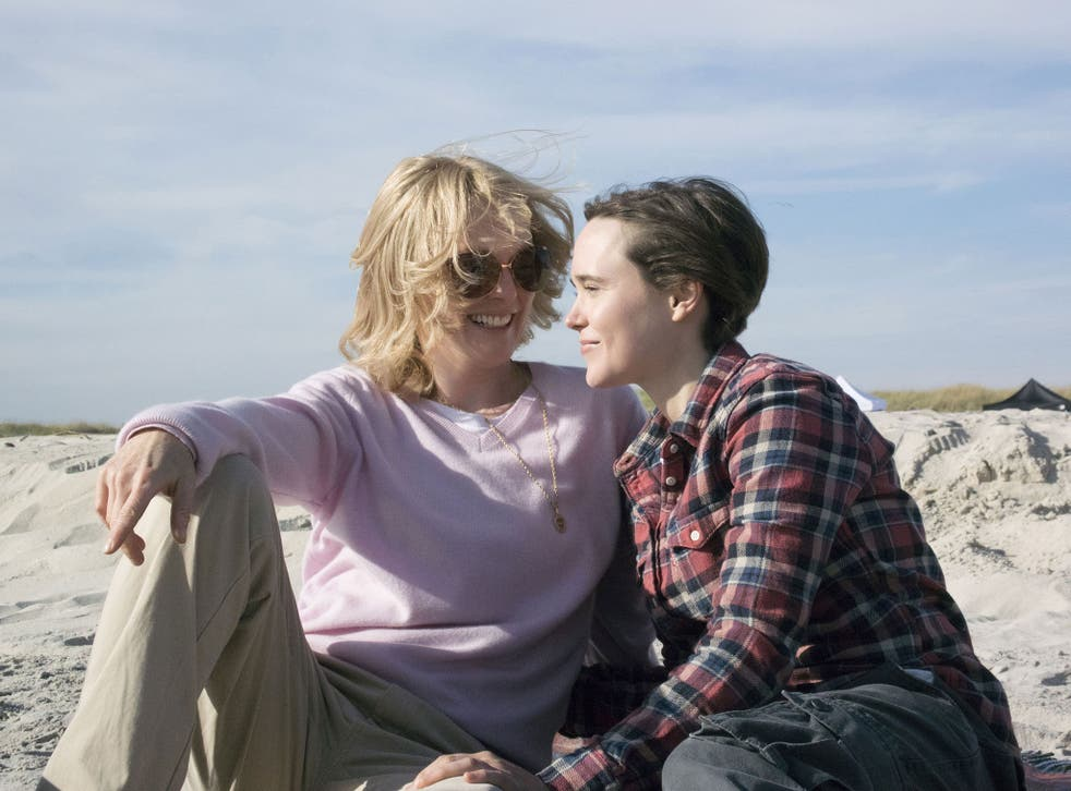Underpowered: Julianne Moore and Ellen Page star in 'Freeheld', a creaky, true-life drama about homophobia