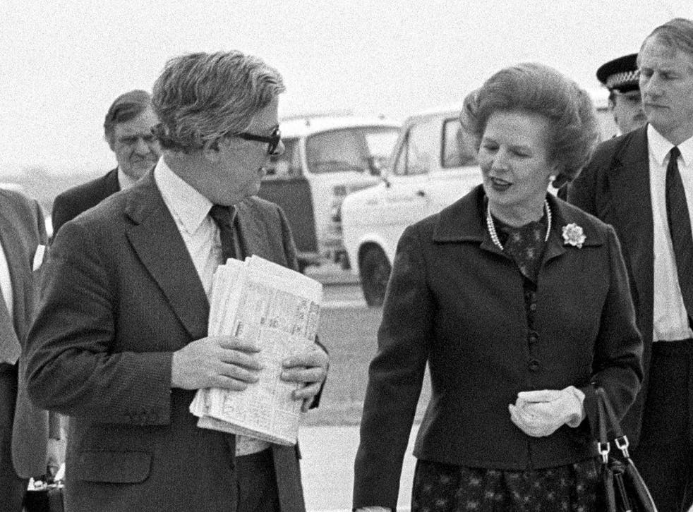 Margaret Thatcher in 1983 with Sir Geoffrey Howe, who warned the PM Britain was in grave danger of being seen as a 'friend of apartheid'