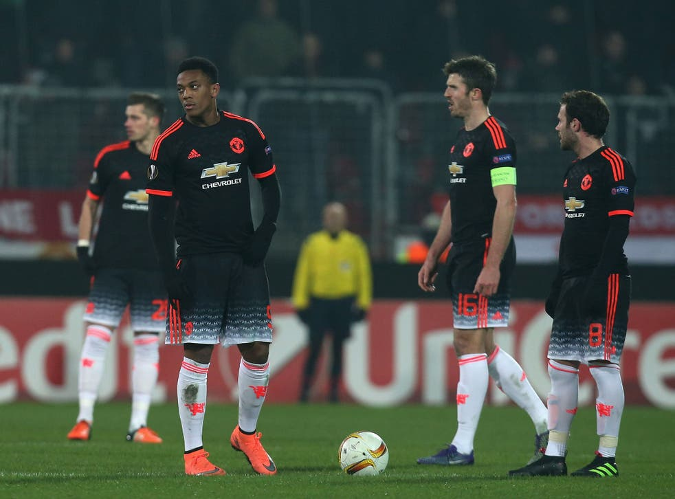 Anthony Martial and his Manchester United team-mates