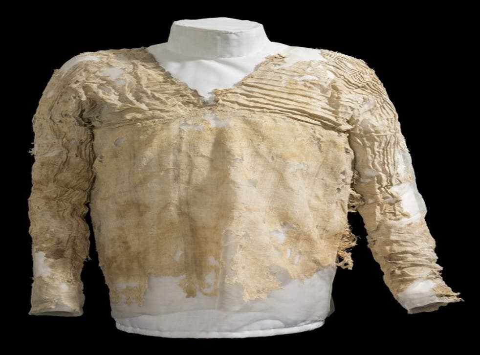 The garment is believed to have been made by a specialised craftsman for a wealthy person in ancient Egypt
