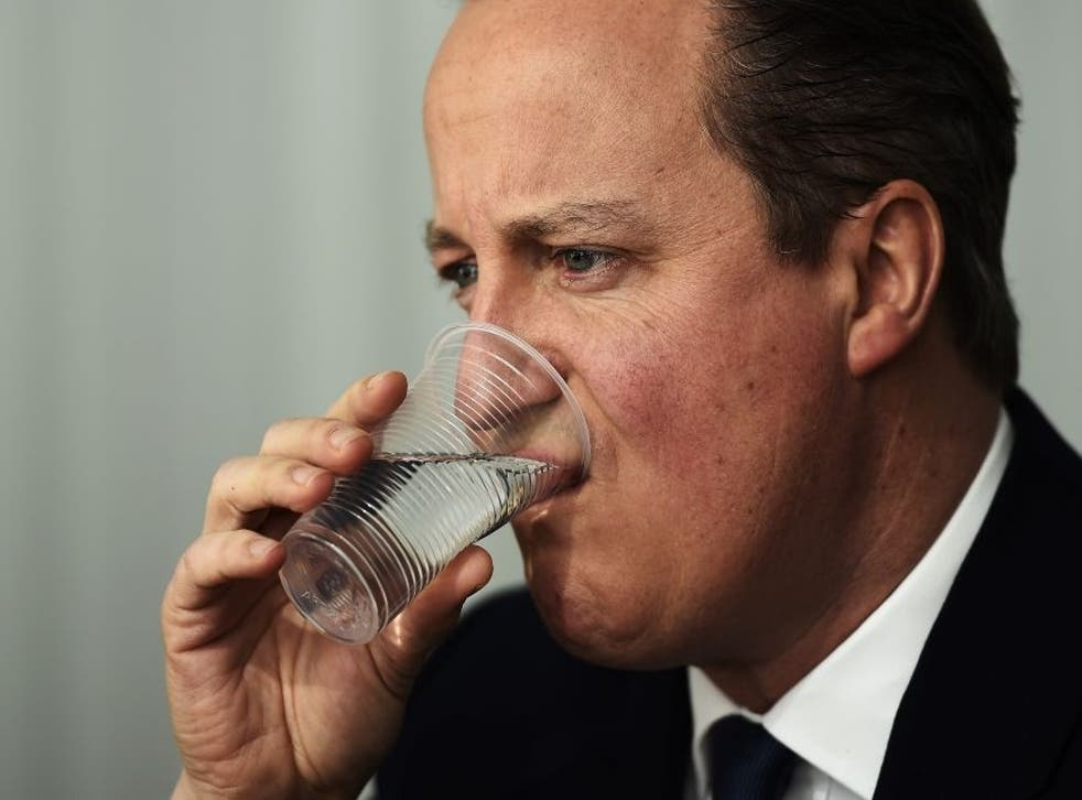 David Cameron has said he is willing to stay until Sunday