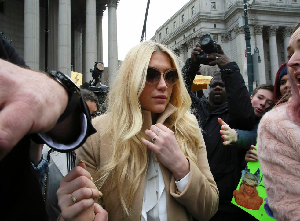 Kesha leaves the Supreme Court in New York on Friday.