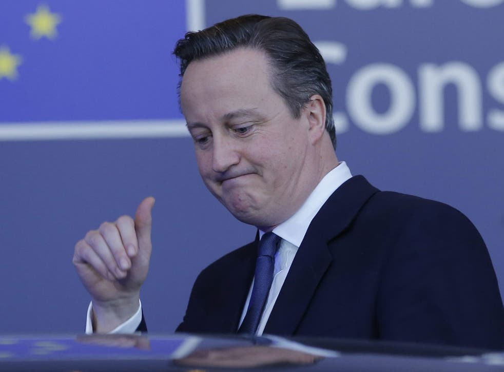 David Cameron leaves the summit after two days of talks