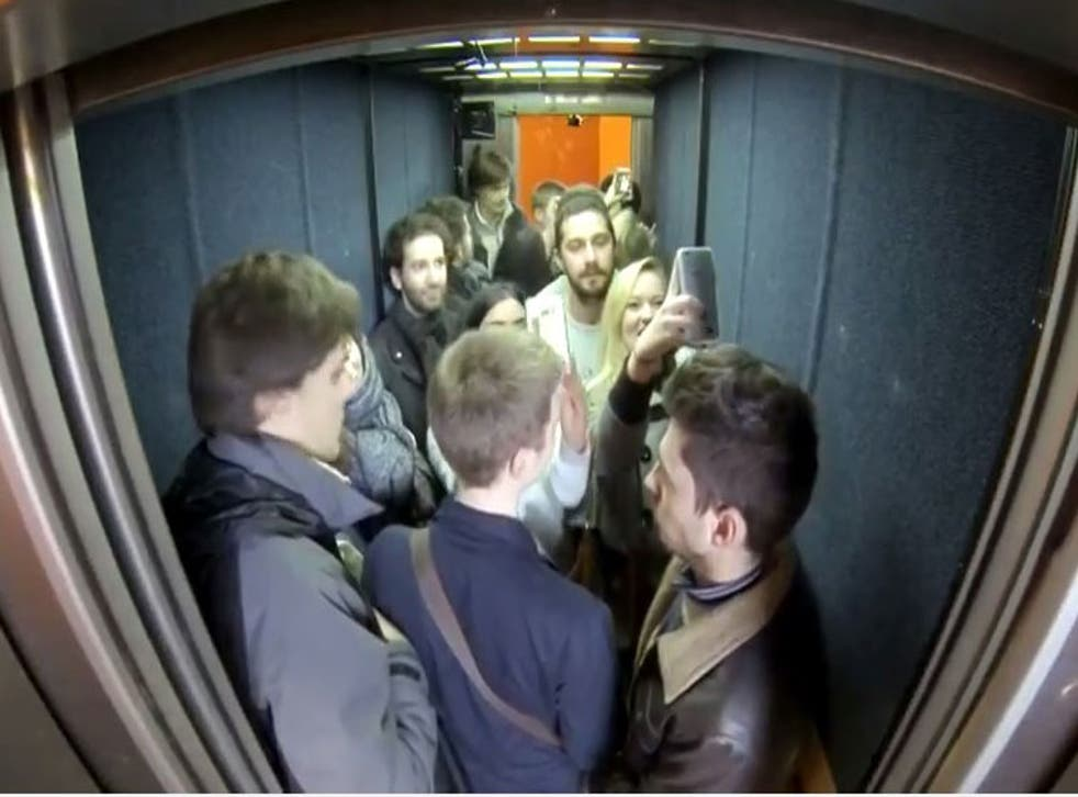 Shia LaBeouf spent 24 hours inside an Oxford lift