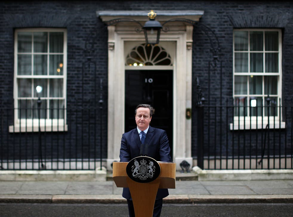 David Cameron addresses the media outside 10 Downing Street