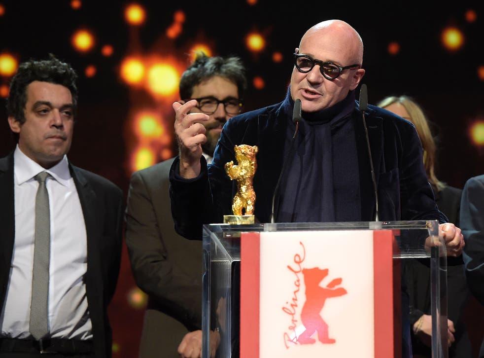 Gianfranco Rosi said he hoped his film would raise awareness