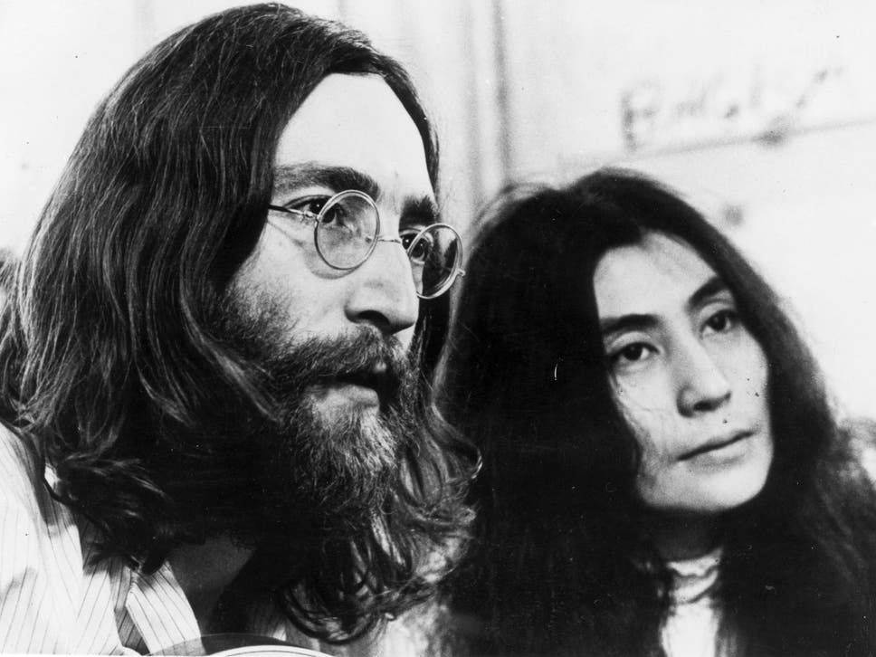John Lennon With His Wife Yoko Ono Photographed In 1969