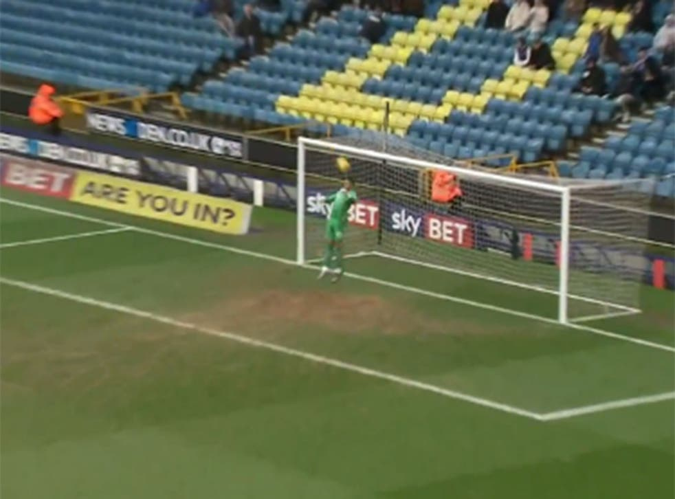 Jordan Archer stops the back-pass going in for an own goal