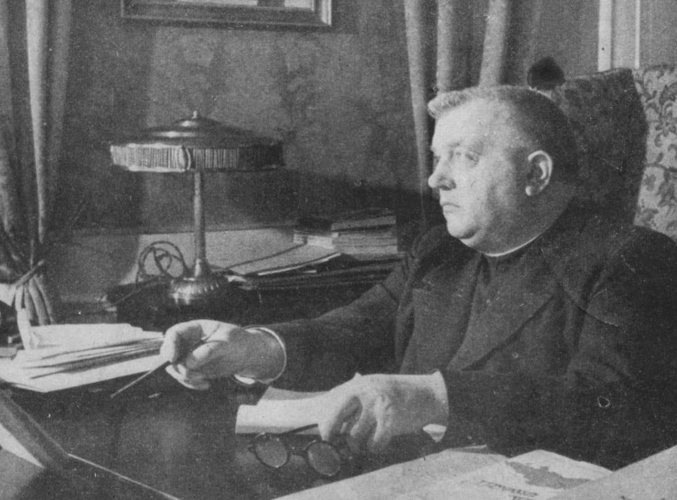Josef Tiso, who was in charge of Nazi Germany's satellite regime in Slovakia during WWII