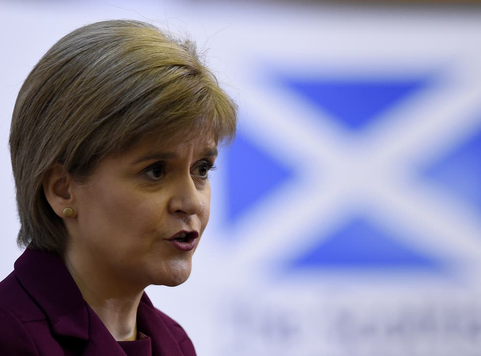 Ms Sturgeon spoke of her fears for employment rights and social protections under the Tories if the UK leaves the EU