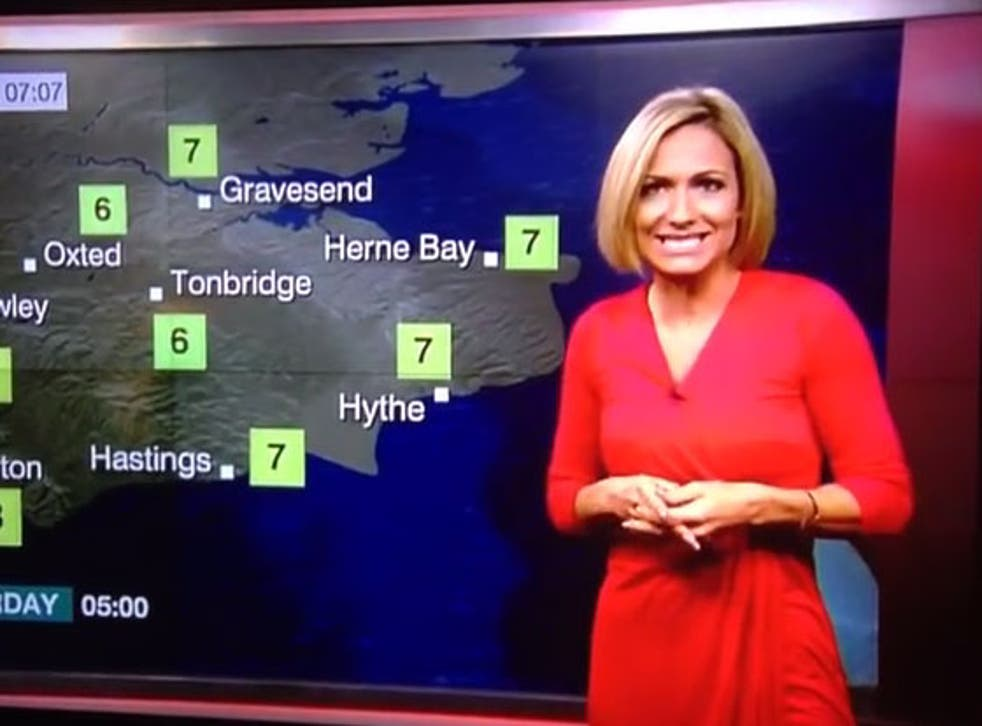 Rachel Mackley presenting the weather on BBC South East