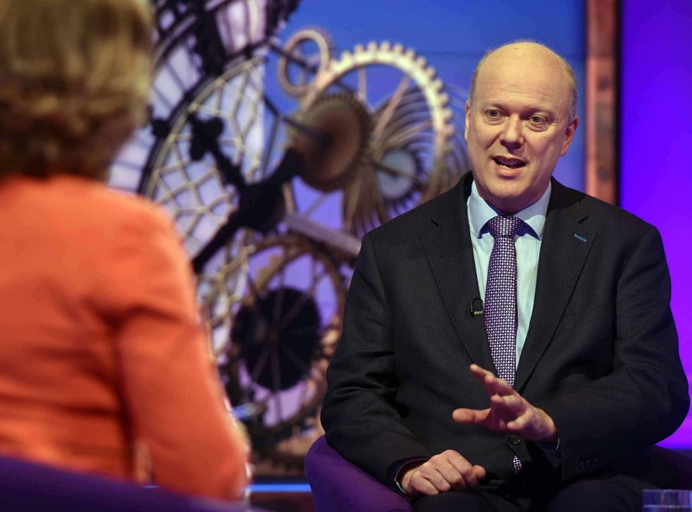 Chris Grayling on BBC1's 'Sunday Politics' programme, where he dismissed fears that Britain's trade with Europe would suffer