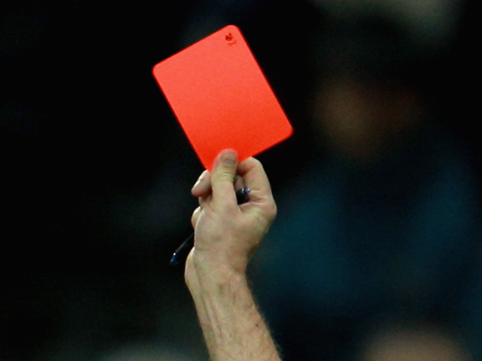 Trabzonspor Player Salih Dursun Sent Off For Showing Red